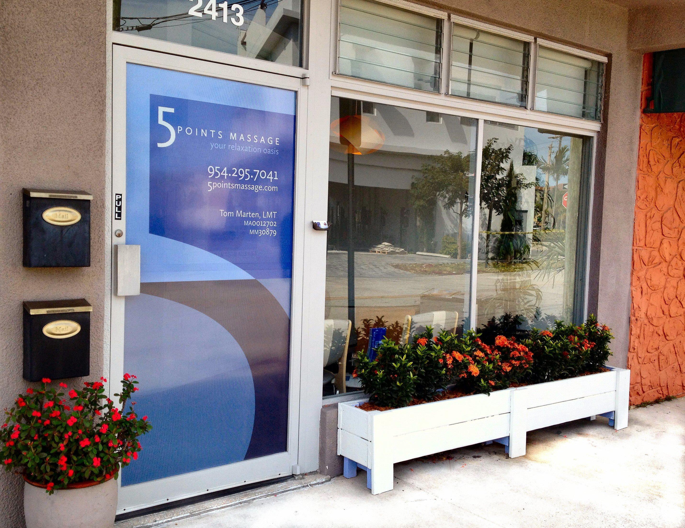 Storefront of 5 Points Massage Studio